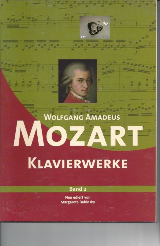 Mozart Wolfgang Amadeus, Klavierwerke, Band 2, Margarete Babinsky