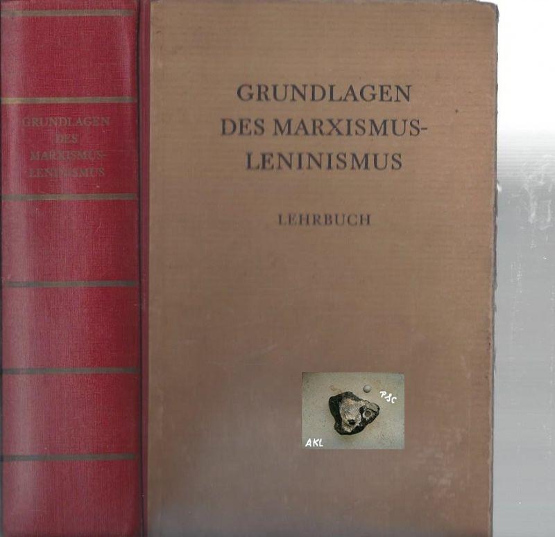 Grundlagen des Marxismus-Leninismus, Lehrbuch, Dietz Verlag