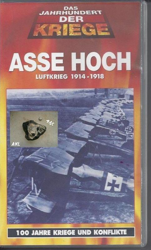 Asse hoch, Luftkrieg 1914 - 1918, VHS