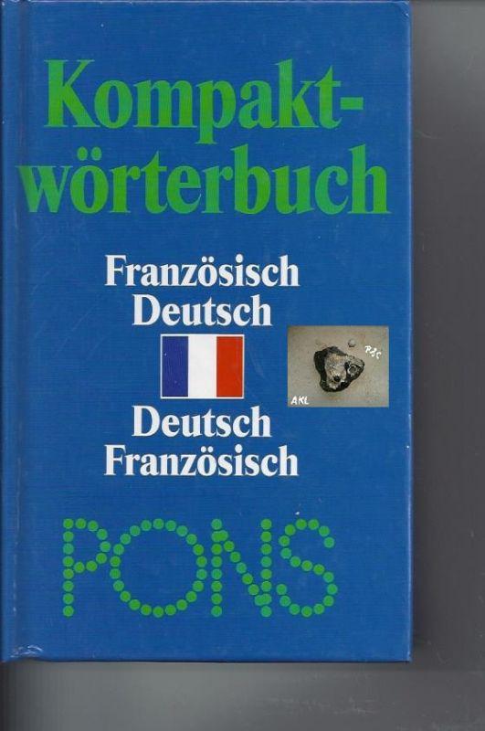 Kompaktwörterbuch Französisch Deutsch, Deutsch Französisch, Pons