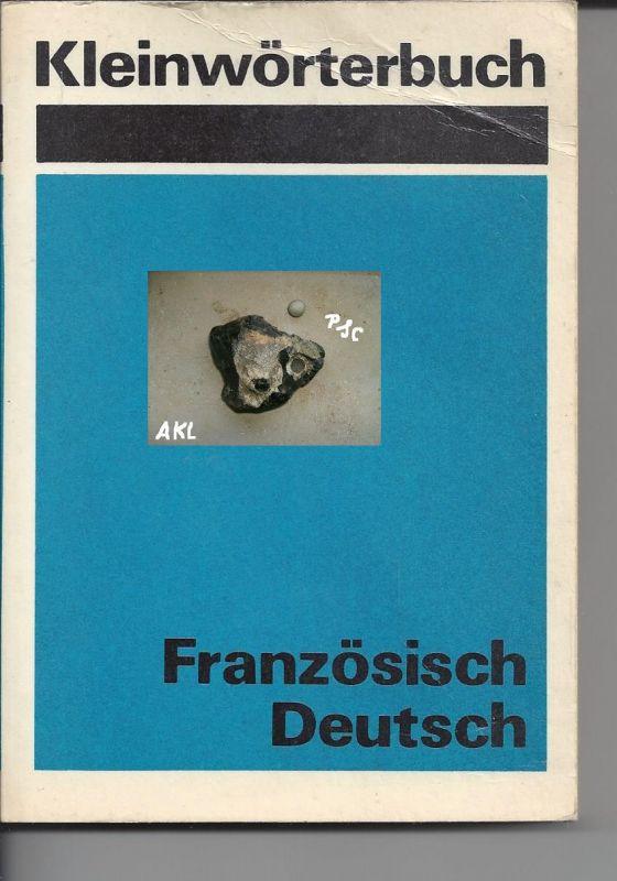Kleinwörterbuch Französisch Deutsch, Helmut Kühnel, VEB