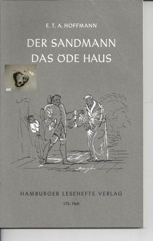 Das Sandmann, Das öde Haus, E. T. A. Hoffmann, Hamburger Lesehefte