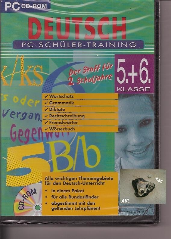 Deutsch PC Schüler Training 5 und 6 Klasse, CD-Rom