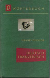 Wörterbuch, Deutsch Französisch, Haase, Olivier