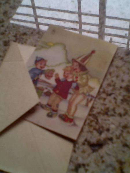 Kinderpostkarte, sehr alt