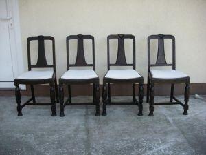 4 Jugendstil-Stühle