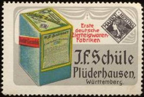 Erste deutsche Eierteigwaren - Fabriken J. F. Schüle, Marke : Hertha