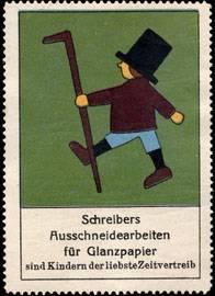 Schreibers Ausschneidearbeiten für Glanzpapier