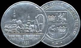 Silberne Medaille - Gewerbe Industrie Ausstellung