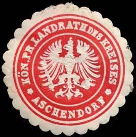 Kön. Pr. Landrath des Kreises Aschendorf
