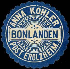 Anna Köhler Bonlanden - Post Erolzheim