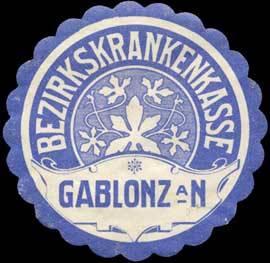 Bezirkskrankenkasse Gablonz/Neiße