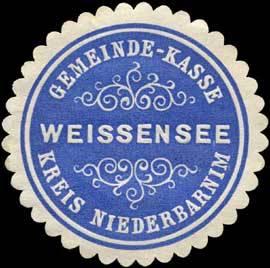Gemeinde-Kasse Weissensee - Kreis Niederbarnim