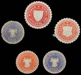 Wismar Sammlung Siegelmarken