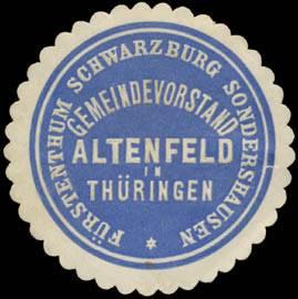 Gemeindevorstand Altenfeld/Thüringen F. Schwarzburg Sondershausen