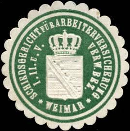 Schiedsgericht für Arbeiterversicherung Verwaltungs Bezirk I. II. und V. Weimar