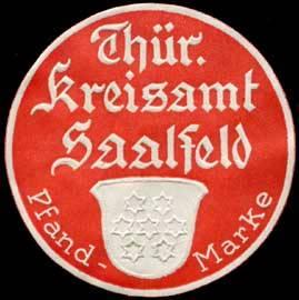 Thüringer Kreisamt Saalfeld - Pfandmarke