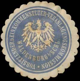 Vorsitzender der Einkommensteuer-Veranlagungskommission Waldenburg/Schlesien