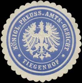 K.Pr. Amtsgericht Tiegenhof/Westpreußen