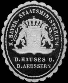 K. Bayer. Staatsministerium d. Hauses und des Aeussern