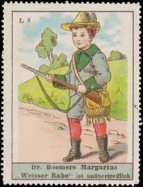 Junge auf Jagd