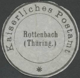 K. Postamt Rottenbach/Thüringen