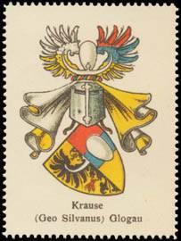 Krause (Geo Silvanus) Glogau Wappen
