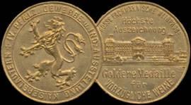 Goldene Medaille für vorzügliche Weine