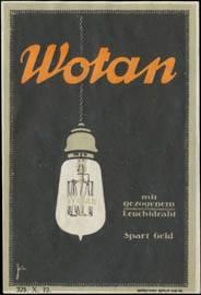 Die Wotan Draht-Lampe Nr. W0436440 - oldthing: Siegel- & Reklamemarken