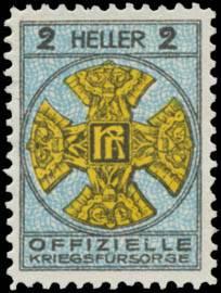 2 Heller Spendenmarke
