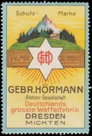 Schutzmarke Deutschlands grösster Waffelfabrik