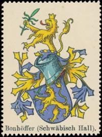 Bonhöffer Wappen (Schwäbisch Hall)