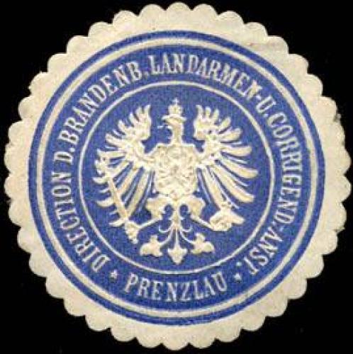 Direction der Brandenburger Landarmen - und Corrigend. - Anstalt - Prenzlau