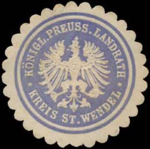 K.Pr. Landrath Kreis St. Wendel