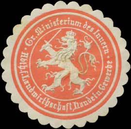 Gr. Ministerium des Innern Abtheilung für Landwirthschaft, Handel und Gewerbe