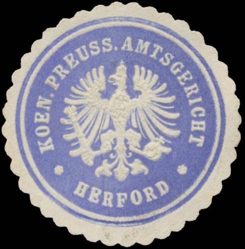 K. Pr. Amtsgericht Herford