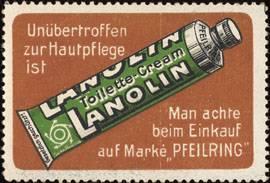 Unübertroffen zur Hautpflege ist Lanolin Toilette - Cream