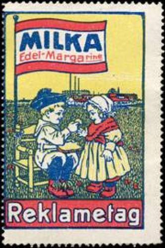 Milka Edel Margarine - Reklametag für Kinder