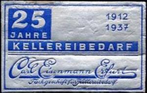 25 Jahre Kellereibedarf Carl Eisenmann - Erfurt
