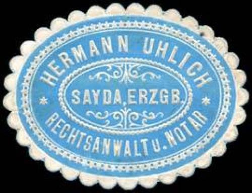 Hermann Uhlrich - Rechtsanwalt und Notar - Sayda / Erzgebirge