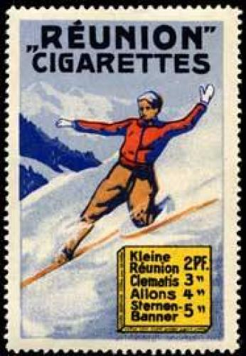 Reunion Cigarettes beim Ski fahren