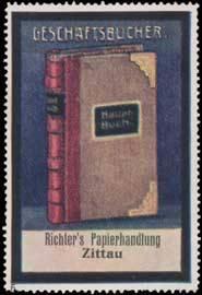 Geschäftsbücher aus Richters Papierhandlung