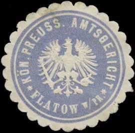 K. Pr. Amtsgericht Flatow Westpreußen