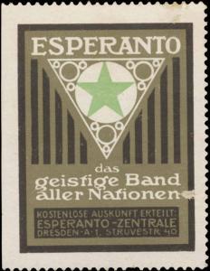 Esperanto das geistige Band aller Nationen