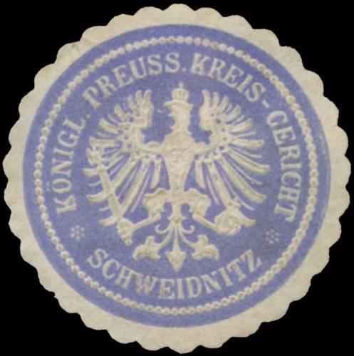 K.Pr. Kreisgericht Schweidnitz/Schlesien