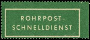 Rohrpost - Schnelldienst