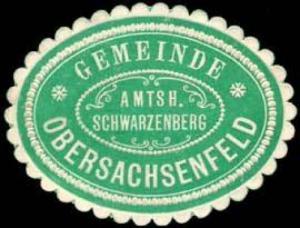 Gemeinde Obersachsenfeld - Amtshauptmannschaft Schwarzenberg