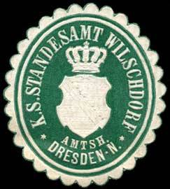 Königlich Sächsisches Standesamt Wilschdorf - Amtshauptmannschaft Dresden-Neustadt