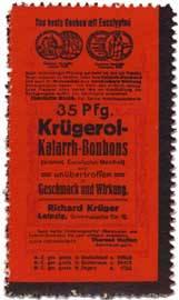 35 Pfg. Krügerol-Katarrh-Bonbons
