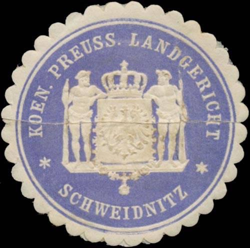 K.Pr. Landgericht Schweidnitz/Schlesien